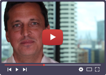 Paul Oosting, National Director of GetUp, with a video play button
